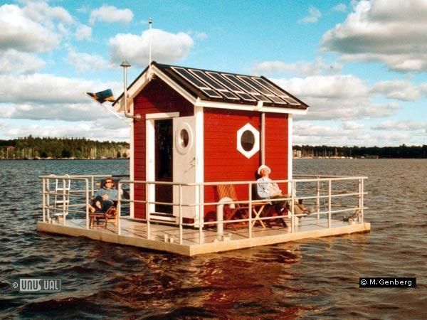 Utter Inn, Västerås, Sweden: A hotel with only one guest room, complete with a bedroom below the water with windows for watching marine life.Sweden, Utterly Inn, Watches Marines, Red Hotels Room, Marines Life, Underwater Hotels, Marine Life, Guest Rooms, Underwater Bedrooms