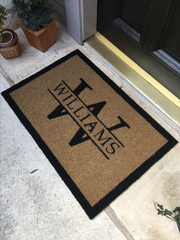 The most elegant and durable door mat on the market today. Our custom door mats do not shred, shed or fade. They are all-weather and resist mildew. Truly a door mat you can keep forever.