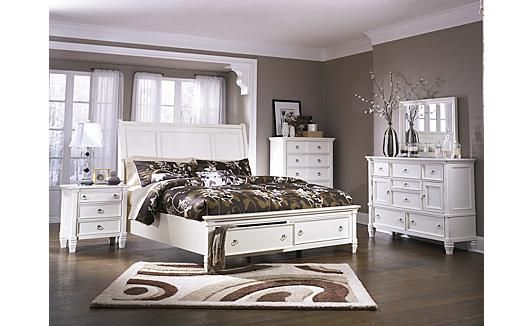 prentice sleigh storage bedroom set for the home