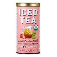 I'm not a huge iced tea person, but this sounds delicious. Strawberry Basil Green Tea Large Iced Tea Pouches