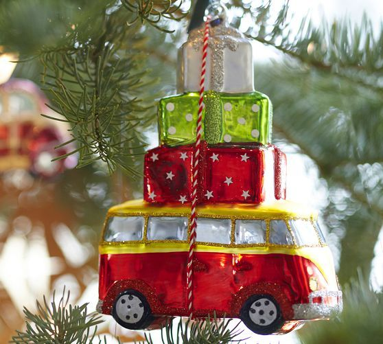 VW Bus / Camper with Gift Packages Ornament | #Van #PotteryBarn #hippie 7.35
