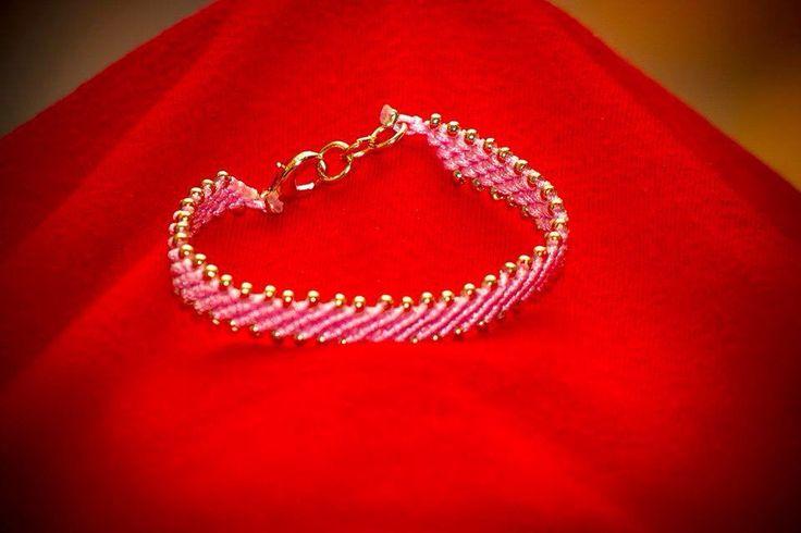Macrame bracelet with gold details by CrochetGrace! Find it at Etsy.com