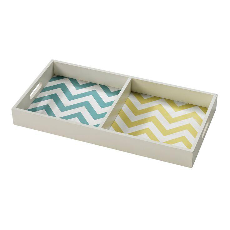 Cute chevron divided tray!