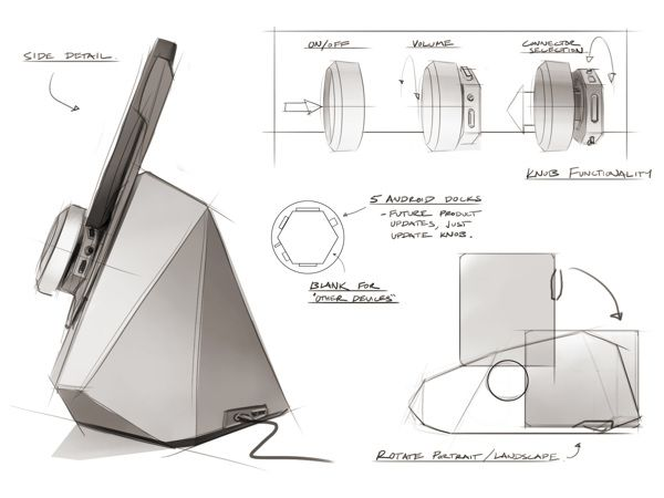 Altec Lansing Android Tablet Speaker Dock by Nelson Wah, via Behance