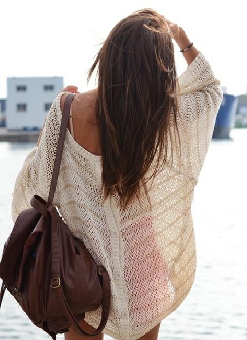 beach cover up... knit wear