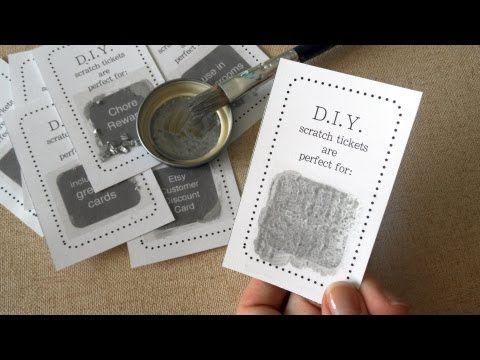 ▶ DIY Scratch Card Easy Tutorial - via GiddyUp Workshop crafting tutorials on YouTube!