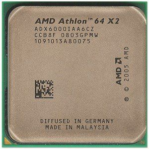 AMD Athlon 64 X2 6000+ 3.0GHz 2x1MB Socket AM2 Dual-Core CPU by AMD. $169.99. Take your computing to a new level by upgrading to this AMD Athlon 64 X2 6000+ Socket AM2 Dual-Core CPU! This AMD Athlon 64 X2 6000+ Dual-Core CPU operates at 3000 MHz Core Speed, features a 2 x 1 MB L2 Cache and provides support for future 64-bit applications! With two processors working together, you can simultaneously burn a CD, check email, edit a digital photo and run a virus scan at the same time...