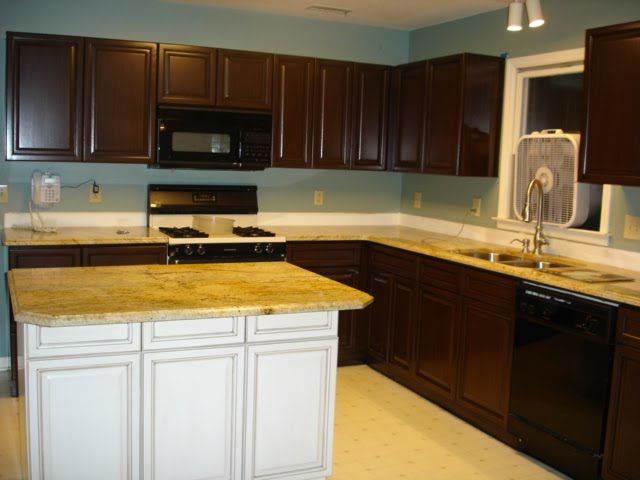 kitchen with brown cabinets oak cabinets painted brown with glaze grain effect 22199