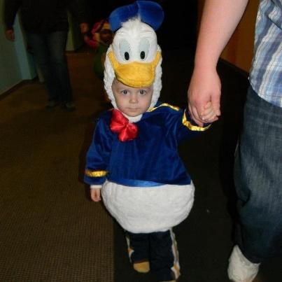 Dress like Donald Duck!  http://www.facebook.com/KidsPlayLounge?ref=ts=ts