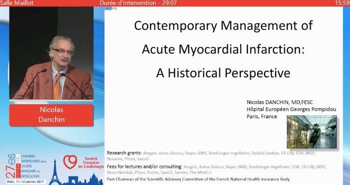 Prise en charge de l'infarctus du myocarde - JESFC 2017 - Congrès - Cardio Online
