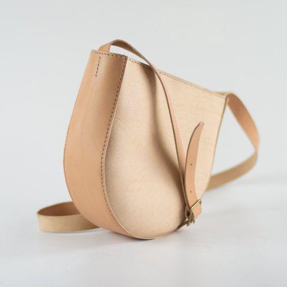 Natural Leather Shoulder Bag - Slouchy Crossbody Bag - Soft Pebbled Leather Bag