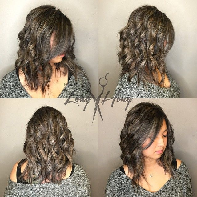 """My client's only request was to NOT make her look like a """"typical"""" Asian girl. @xchellieee So I played with some new colors & placements and came up with this! Smokey Ashy Bronzen Blonde.  Whole head combination of babylights, med to large weaves, Balayage pieces, slices of high lifts, root shadow, and toned her super ashy twice. And a simple mid length layered cut. Yes, it's a lot of work. But you can't take short cuts to great hair.(4.5hrs) I usually book """"The Works"""" services at the end of…"""