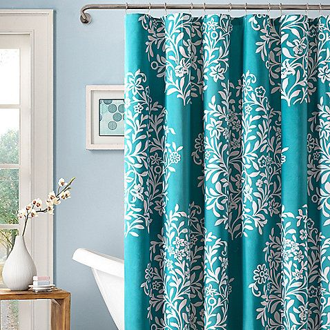 Folklore 72-Inch x 72-Inch Shower Curtain; Bed Bath & Beyond $30..been looking for a shower curtain this color..