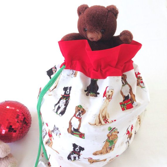 Santa Sack for Pets Large Christmas Sack Cats and Dogs Red