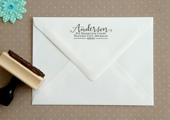 1000 Ideas About Custom Address Stamp On Pinterest