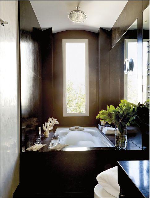 +1000 ideias sobre Banheiro Comprido E Estreito no Pinterest  Banheiro Estre -> Banheiro Comprido E Estreito Com Banheira