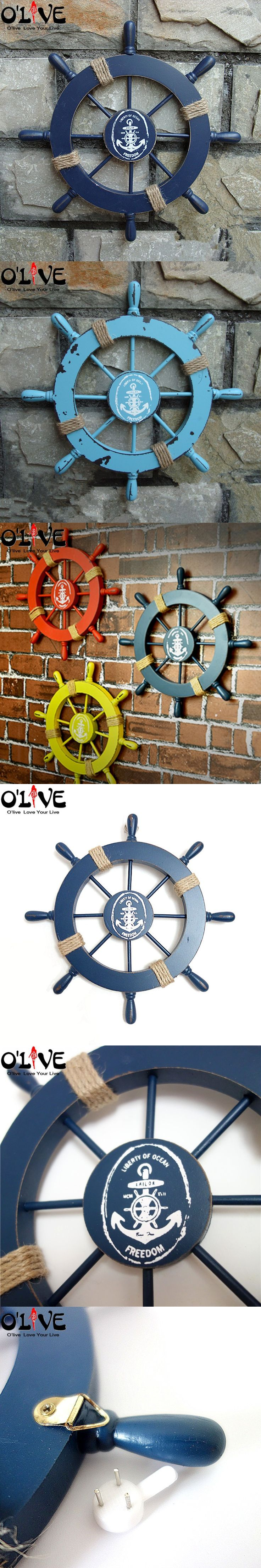 Best 25 ship wheel ideas on pinterest ship wheel tattoo anchor mediterranean style nautical decor wooden helm crafts vintage home decor marine boat ship wheel hanging wall decoration bar amipublicfo Images