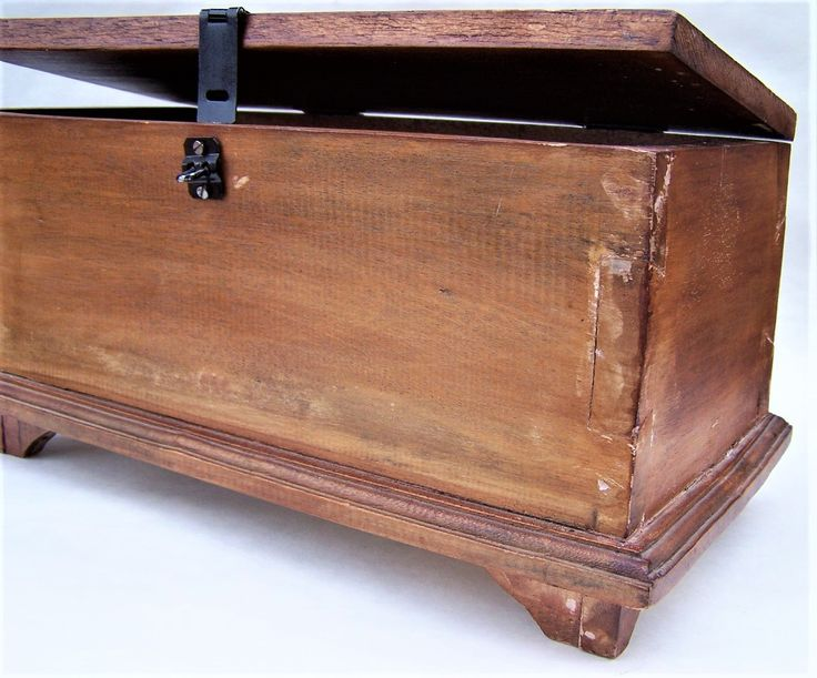 Old Vintage Homemade Primitive Wooden Box Handmade