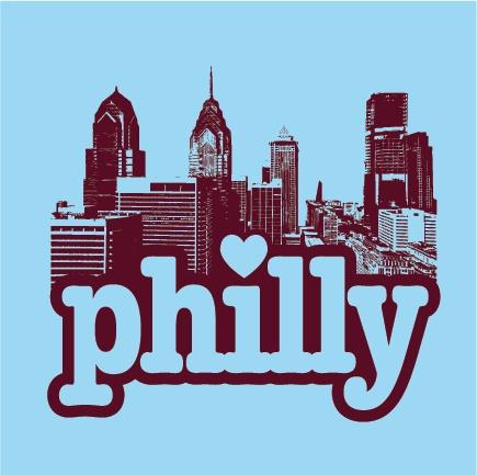 """Philadelphia """"Philly Love"""" T-shirt  $14.99 http://www.barktees.com"""