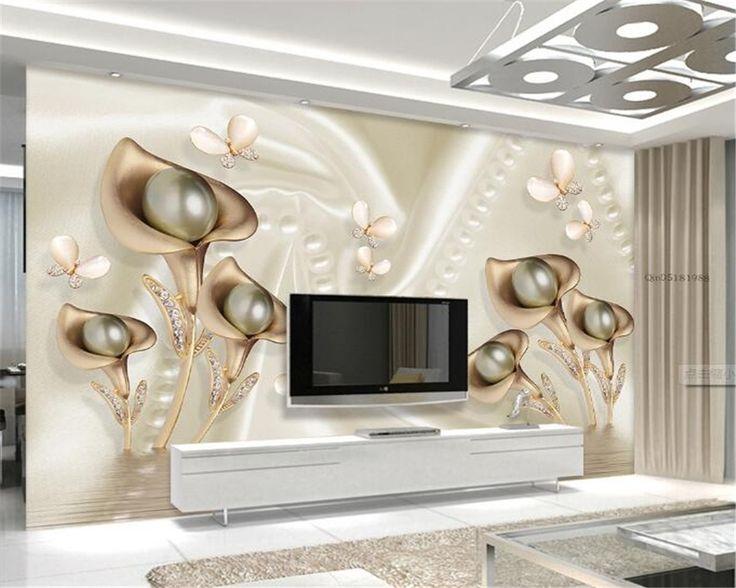 Beibehang Fashion 3d Big Mural Wallpaper Hd Balcony Window: Best 25+ Flower Mural Ideas On Pinterest