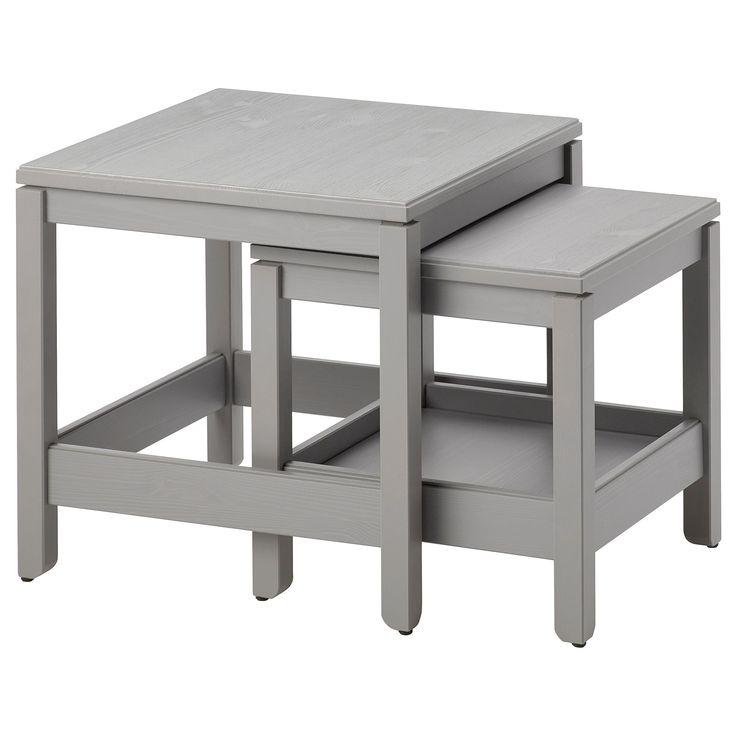 IKEA - HAVSTA Nesting Tables, Set Of 2 Gray