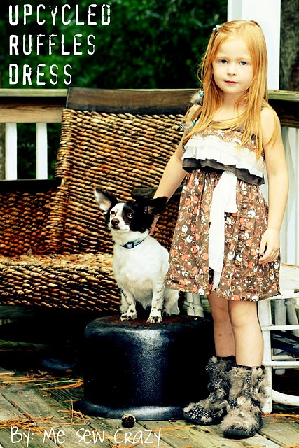 ruffle dressSewing Crazy, Little Girls, Dresses Tutorials, Kids Fashion, Upcycling Ruffles, Ruffles Dresses, Pr P Tutorials, Kids Clothing, Crazy Blog