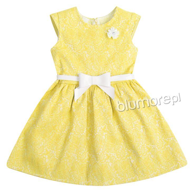 Śliczna sukieneczka w radosnym żółtym kolorze. Wspaniała propozycja na wiosenne spacery i rodzinne uroczystości — polecamy!   Cena: 79,90 pln