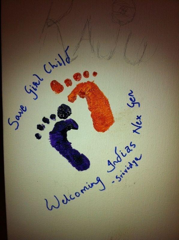 #Save the #girl child #IndependenceDayFeviArtWay #savethegirlchild