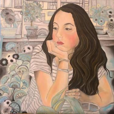 "Saatchi Art Artist Paola Falconi; Painting, ""Il pensiero adolescente"" #art"