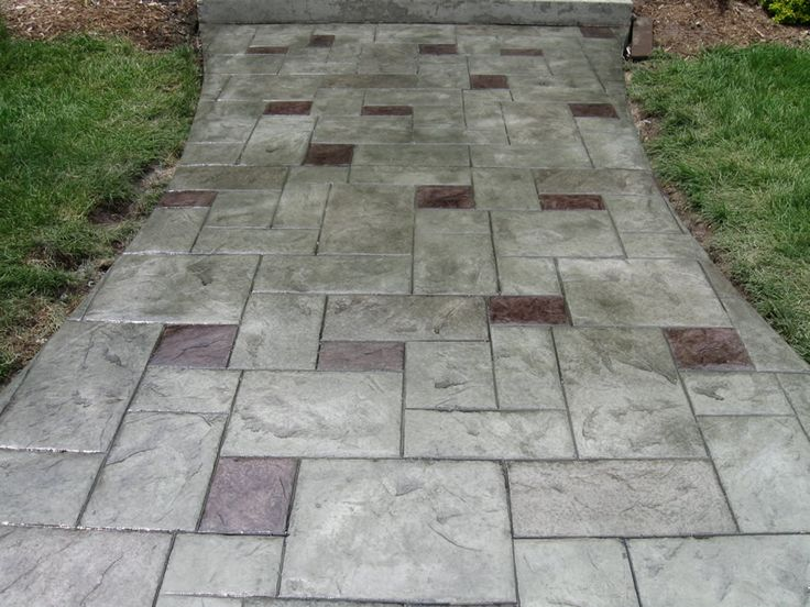 1000 Ideas About Stamped Concrete Walkway On Pinterest Stamped Concrete Stamped Concrete