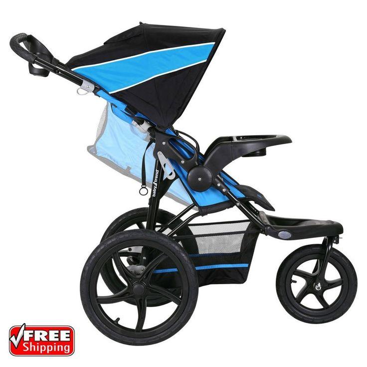 Details about Baby Trend XCEL Jogging Stroller Mosaic Blue