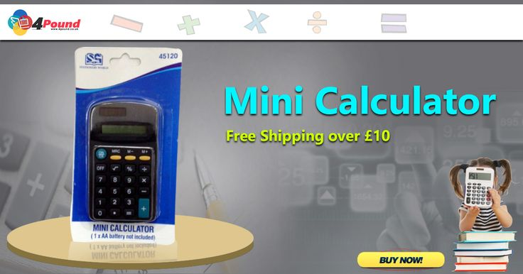Buy Stationery Product Mini Calculator Only at #4pound store.