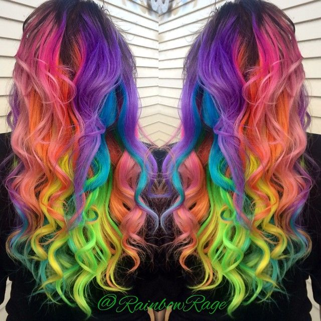 17 best images about rainbowmulticoloured hair on