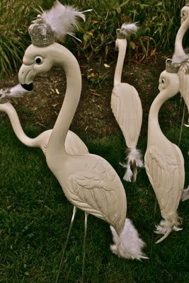 1000 images about yard birds on pinterest gourds for Flamingo feather paint