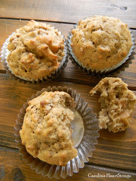 We are muffin addicts at our house!   There is nothing better to me than a warm muffin and a latte!   I omitted the oil in the recipe, substituted it with applesauce and this muffin has the perfect consistency.   Healthier and tasty, a winning combination!