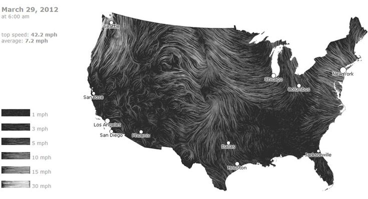 MAPPING THE FLOWING OF WIND