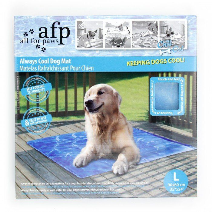 Always Cool Dog Mat Hate the baking-hot summer? Then the always cool dog mat is what you need for your dog. Special cooling gel inner lining keeps the mat surface cold even in hot summer. What you onl