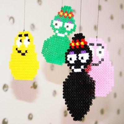 Barbapapa mobile hama perler beads by Paradizzy