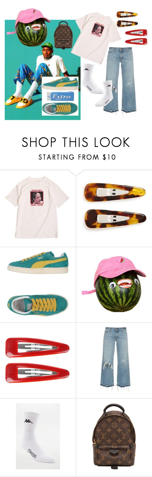 """""""tyler<3"""" by sannalagesenfenheim on Polyvore featuring Golf Wang, France Luxe, Puma, UNIF, Forever 21, Simon Miller, Kappa and Louis Vuitton"""