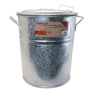 Stérilisateurs et Déshydrateurs : Cuiseur et stérilisateur à bocaux. Facilitez-vous la vie grâce à ce Cuiseur et stérilisateur à bocaux Le Parfait qui permet de cuire et stériliser jusqu'à 11 bocaux de 1L. En plaçant vos bocaux dans ce stérilisateur, une parfaite étanchéité sera assurée et la conservation de vos aliments sera optimale ! Sa grande capacité permet la stérilisation de 11 bocaux de 1L simultanément.