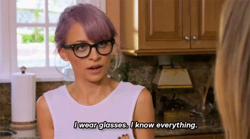When your professor tells you that you're not studying correctly: | 26 Nicole Richie Gifs That Accurately Describe College