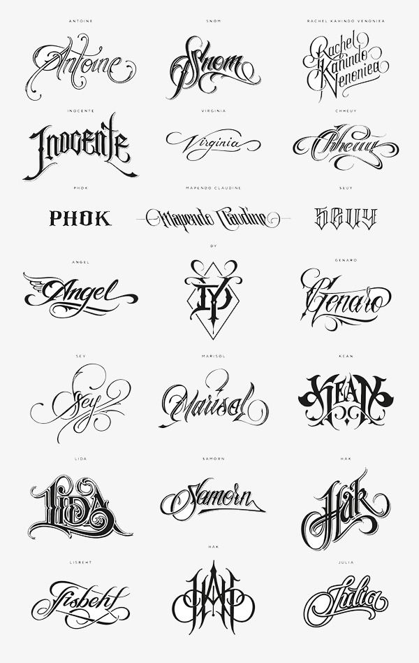 Tattoo English Alphabet Png Transparent Clipart Image And Psd