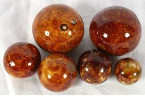 New Looking Brown Bennington Marbles Ceramic Marbles