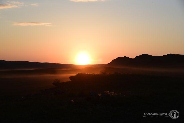 """Amazing sutset on the Oglakhty area (""""Khakassky reserve"""")"""