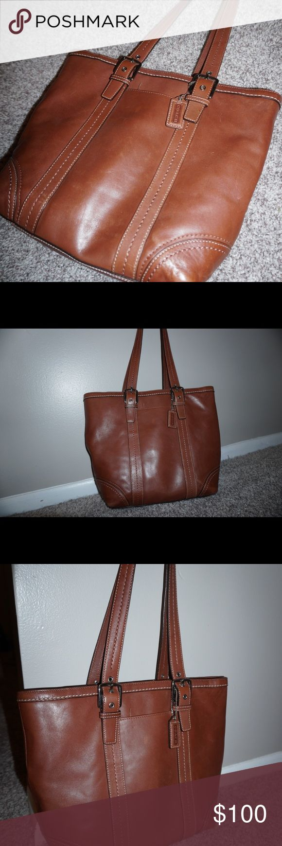brown leather Coach purse beautiful brown leather Coach purse! Perfect size, great quality! Coach Bags Shoulder Bags