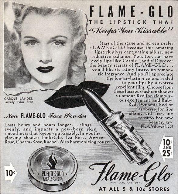Carole Landis Advertisement Beauty Ad Makeup Advertisement Makeup - 1920s-makeup-ads
