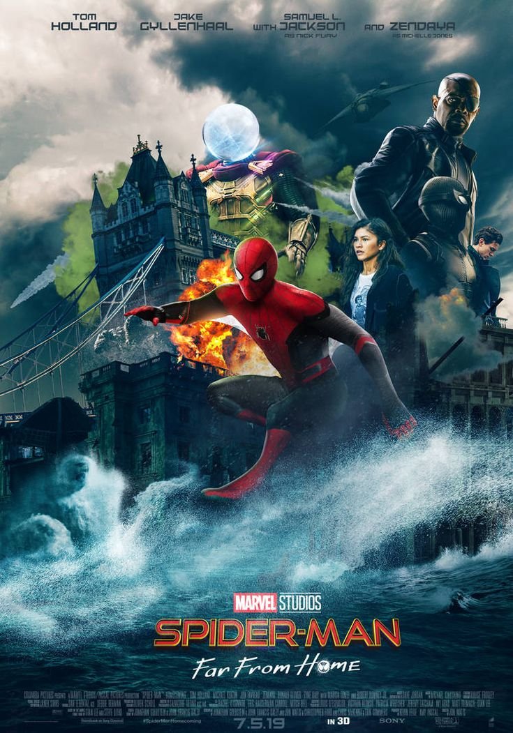 SPIDERMAN FAR FROM HOME POSTER 2019 by Ralfmef Marvel