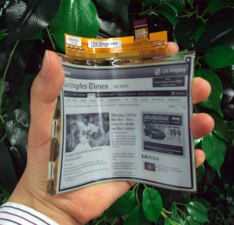 LG's Flexible Displays Go Into Mass Production? This is pretty cool...
