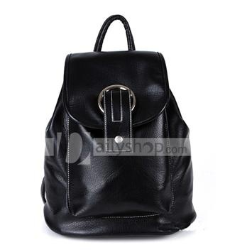 PU Leather Magnetic Closure Women Backpack