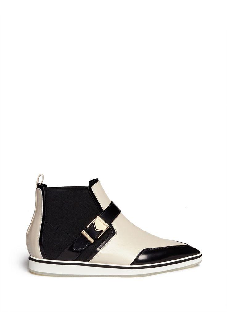NICHOLAS KIRKWOOD - Colourblock leather Chelsea boots | Multi-colour Ankle Boots | Womenswear | Lane Crawford - Shop Designer Brands Online